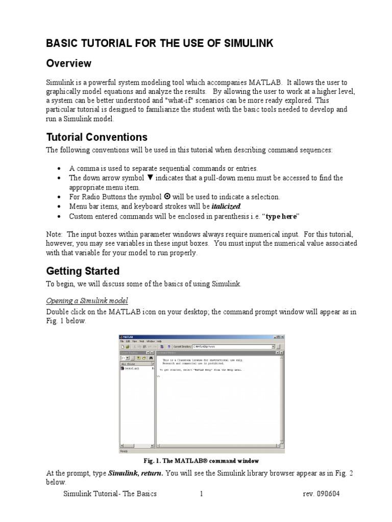 Simulink Tutorial the Basics | Parameter (Computer Programming