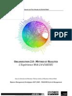Mémoire Fin d'études Organisation 2.0 Mythes et Réalités