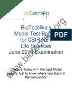 CSIR Model Test Paper 1