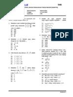 Soal Snmptn Matematika Kode 546