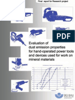 Evaluation of Dust Emission Properties for Hand-operated Power Tools and Devices
