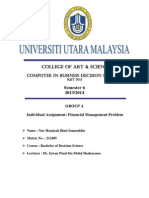 Financial Management Problem