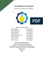 Kelompok 2 - Pemrosesan & Aplikasi Polimer