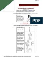 10 Principles of Ergonomic