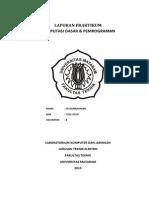 Laporan Praktikum Bahasa Pemrograman C++ 2013