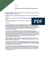 JRF Information Bulletin - 21 February 2013