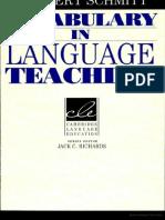 Vocabulary in Language Teaching Norbert Schmitt