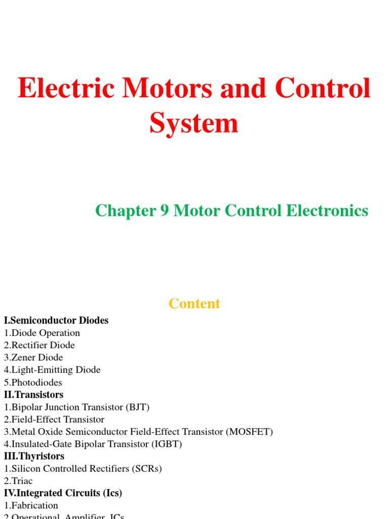 59chapter 9 Motor Control Electronics Field Effect Transistor Ac Speed Circuit Reversing Polarity Dc Chapter Bipolar Junction