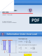 Lecture Module 4 Axial Loads