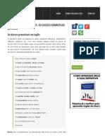 Gramática Básica – Lição 01 – As Classes Gramaticais em Inglês _ Curso de Inglês Grátis