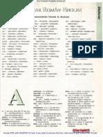 Dictionar Roman Englez