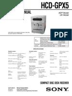 Manual Servico Sony Hcd Gpx5
