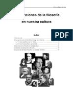 funciones de la filosofía en nuestyra cultura