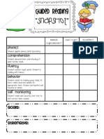 Guided Reading Assessment Form Stinson
