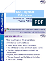 8. Reasons for Taking Part in Physical Activity