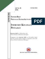 ED PSAK 50 Revisi 2010 Instrumen Keuangan Penyajian
