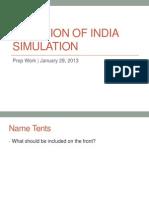 Partition of India Simulation Prep