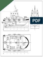 General Arrangement Mini Tug Boat