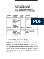 45832486 Download Soal TOEFL Gratis Structure and Written Expression