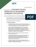 Decreto Ley de Ilicitos Cambiarios Venezuela Feb 2014