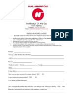 The Halliburton Employment Application Form