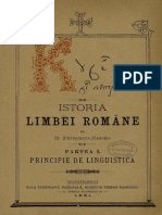 B. Petriceicu Hasdeu - Limba română vorbită între 1550-1600. Tomul III. Principie de linguistică