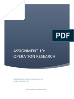 Operations Reasearch assignment