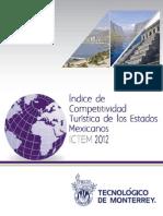 Indice de Competitividad Turistica de los estados Mexicanos ICTEM