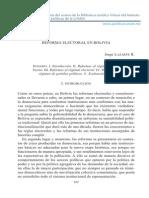 Reforma Electoral Bolivia