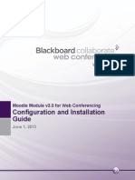 Configuration and Installation Guide for Moodle Module for Blackboard Collaborate Web Conferencing