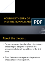 Kounin_s Theory of Instructional Management