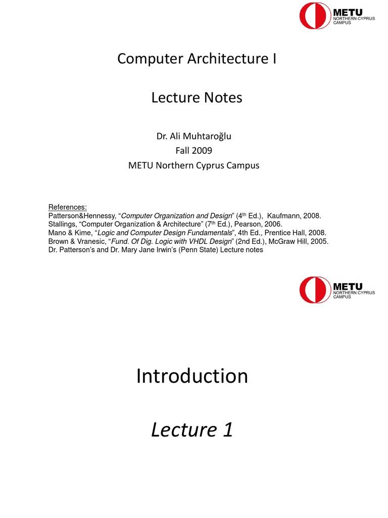 CS2354 ADVANCED COMPUTER ARCHITECTURE LECTURE NOTES PDF