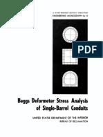 Beggs Deformometer Stress Analysis of Sngle-Barrel - EM14