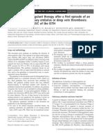 Duration Antikoagulan by ISTH