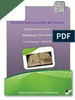 Analisis Comparativo de Textos. Ciencias Naturales