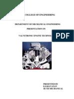 Valvetronic Engine Technology