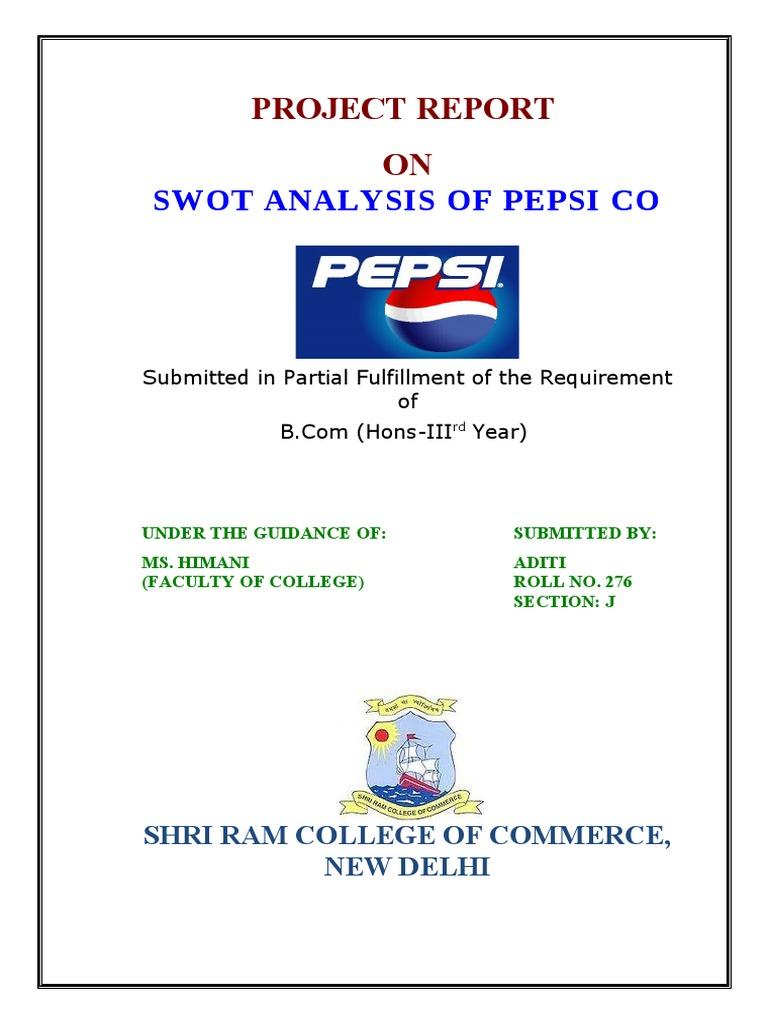 swot analysis of pepsi