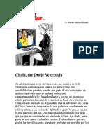 Chola Me Duele Venezuela. Por la China Tudela