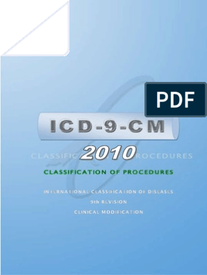 Icd9cm Vertebral Column International Statistical