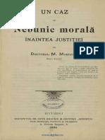 Un Caz de Nebunie Morala Inaintea Justitiei- Mina Minovici