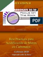 Acido de Matriz en Carbonatos