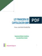 LEY FINANCIERA CAPITALIZACIÓN SIMPLE