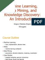 Dm1 Introduction Ml Data Mining