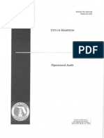 City of Hampton Operational Audit (Feb. 2014)