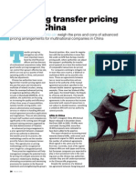 Managing TransferPricing Risk in China