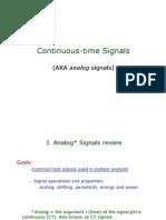 1 Analog Signals