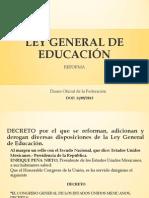DOF LEY GENERAL DE EDUCACIÓN