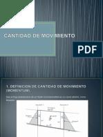 Cantidad de Movimiento Exposicion Fluidos II