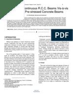Researchpaper Economics of Continuous RCC Beams Vis a Vis Continuous Pre Stressed Concrete Beams