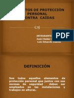 ELEMENTOS DE PROTECCIÓN PERSONAL CONTRA CAÍDAS
